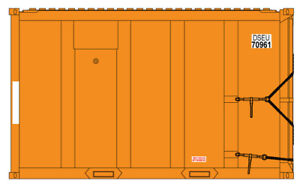 Atlas N Scale Trash (MSW) Container 4-Pack DSEU 70459, 70899, 70385, 70150
