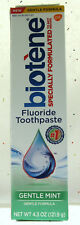 Biotene Gentle Mint Original Dry Mouth Fluoride Toothpaste 4.3oz soothe oral  BF