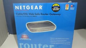 NETGEAR 4-Port Wired Router 200 Mbps - BRAND NEW!! (Factory Sealed) RP614 10/100