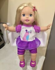Mattel LITTLE MOMMY Talk with Me Repeating Interactive Doll 2011 Rare