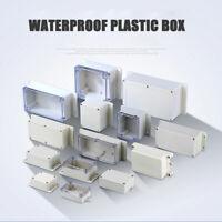 1stk. Elektronik Projekt Gehäuse Wasserdichte Klarsicht Box Graue Abdeckung
