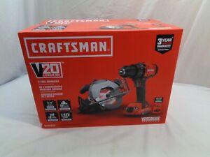 Craftsman V20 Cordless 2-Tool Combo Kit ( Brand New) Model # Cmck202C2