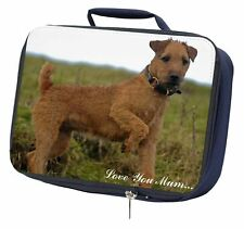 More details for lakeland terrier 'love you mum' navy insulated school lunch box ba, ad-lt1lymlbn