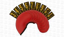 CLUB Glove gloveskin 9pc Set di copertura ferro (3-PW) - Regolare-Rosso