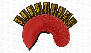 Club Glove Gloveskin 9pc Iron Cover Set (4 to PW) - Regular - Red