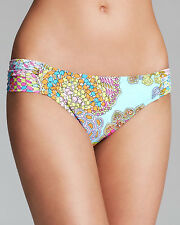 $68  NWT  TRINA TURK  CORAL REEF  12  SHIRRED TAB HIPSTER    BOTTOM ONLY
