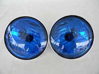 Harley Pursuit Lamps Passing AuxillaryTouring FLHP FLHTP 2 Blue Lamps