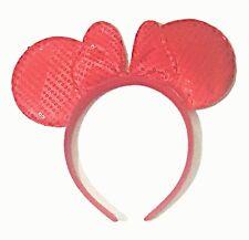 7679853975e7 Mickey Minnie Mouse Red Sequin Bow Ear Headband Hairband Costume Accesory  Coplay