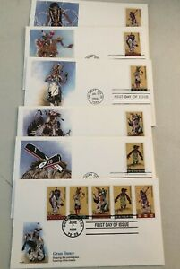 First Days Unaddressed Set Of American Indian Dance 1996 Set Of 5 Scott Is-77