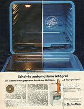 """Publicité 1972  SCHOLTES cuisinière électrique à four """"pyrolyse"""""""