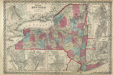 "1860 Colton's  ""NEW YORK STATE""-original, ex-atlas, large format"