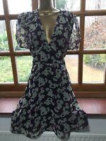 Top Shop Tea Dress Purple pansy mini 10-12