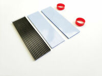 M.2 NVME SSD Aluminum Radiator Fin Heatsink Cooler with Thermal Pads 70*20*3mm