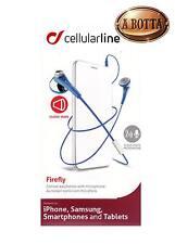 Cuffie Auricolari con Microfono Cellular Line FIREFLY Blu per iPhone Samsung