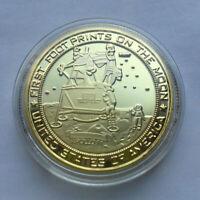 US Apollo 11 Moon Landing Commemorative Coin spaceman astronaut Collection Gift