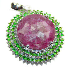 Ruby Pendant 925 Sterling Silver + Free Shipping  by SilverRush Style