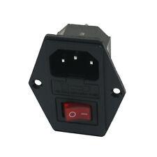 Lumiere rouge avec interrupteur prise IEC320 C14 de moyeu AC 250 V 10 A Y3