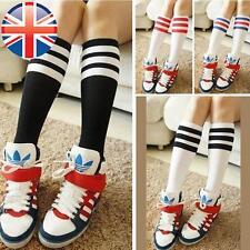 *UK Seller* Kids Girls Cute Fancy Stripe Design Sporty Knee High Socks