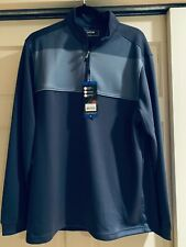 Bolle Tech Performance 1/4 Zip Pullover Chrome Blue L New with tags Polyester