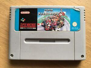 Super Mario Kart Nintendo Snes Game Cart PAL
