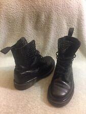 Dr Martens Pascal Croc Print Black Boots Size Uk 3 Us 5 L