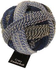 Crazy Bola mágica 100g Schoppel Color 2099 Pause en azul Lana Calcetines de lana