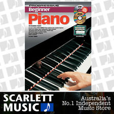 Progressive Beginner Piano Book & CD + DVD *BRAND NEW* Free Chord Chart
