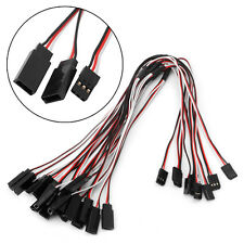 300mm 10Pcs Y Style Servo RC Extension Lead Wire Cord Cable For JR Futaba 30cm