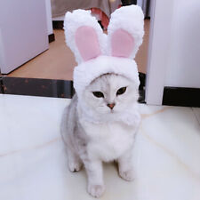 Cute Kitten Cat Dog Puppy Pet Costume Cosplay Rabbit Hat Fleece Warm Cap Pink