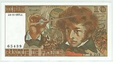 BILLET 10 FRANCS BERLIOZ J 6 11 1975 J 65439 B 253