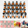 24x Cream Icing Piping Nozzles Tips Cake Decor Pastry Cupcake Baking Tool w Bag