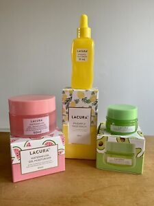 Lacura Korean-Inspired Watermelon Moisturiser, Pineapple Serum & Avocado Eye Set