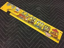 Data East Rocky and Bullwinkle Pinball Machine Train Backpanel Playfield Plastic