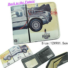 Classic Film Back To The Future Mens Wallet Bifold Faux Leather ID Holder Purse