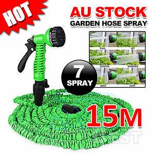 Expanding Expandable Flexible Garden Water Hose Pipe with Spray Nozzle Gun