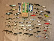 48 Fishing Lures Unused/Used Sizes/Colors + Nos Box Of Pflueger Limerick Hooks