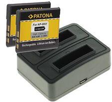 Dual 2 veces cargador + 2x Battery batería np-bn1 F. Sony Cyber-shot dsc-tx20