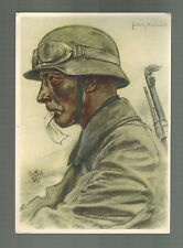 1941 Stuttgart Germany Army Soldier postcard Stamp Day Cover Willrich Artist