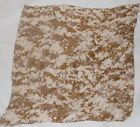 Vintage Desert Camouflage Army Military Cotton Square Scarf Wrap Tan Brown