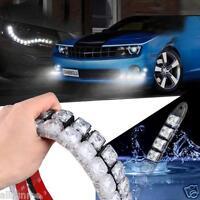 2x COB Car DRL Driving Fog Light 6-20 LED Daytime Running Light Flexible Strip