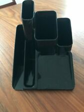 VTG Plastic Desk Organizer - Black - Newell Office Products - Pat #D332631