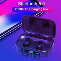 IPX7 Waterproof Bluetooth 5.0 Earbuds TWS True Wireless Stereo Headset Earphones