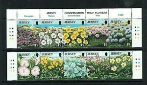 Jersey: 1995 Europa, Nature Conservation, Wild Flowers. MNH set