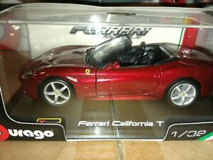 Burago Ferrari California T 1/32 New in Box Diecast Car