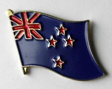 NEW ZEALAND SINGLE FLAG LAPEL PIN BADGE 1 inch