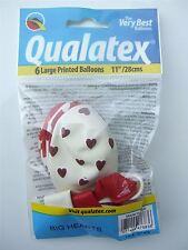 "6 x 11"" Big Hearts Latex balloons (Love, Valentine)"