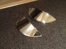 "7 "" Chrome on Brass Head Lamp Headlight  peaks classic car"