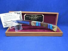 "Buck 110 David Yellowhorse ""Kit Carson"" Knife Mint With COA & Wood Display Case"