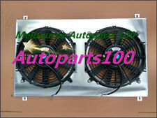 Alloy Aluminum Fan Shroud + FANS For Ford EF EF2 EL NF NL DF DL Falcon Fairline