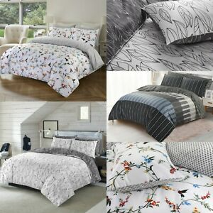 Egyptian Cotton Printed Duvet Cover Quilt Bedding Set Double Super King All Size